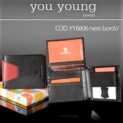 PORTAFOGLIO UOMO YOU YOUNG COVERI NERO BORDEAX