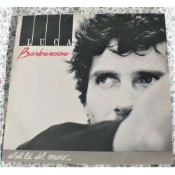 "LP LUCA BARBAROSSA "" AL DI LA' DEL MURO "" 1989 MADE IN ITALY"
