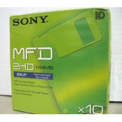 1 x confezione sigillata da 10 floppy disk Sony MFD 2HD