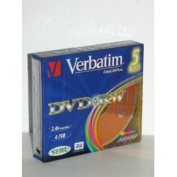 5x VERBATIM DATALIFEPLUS DVD + RW 2.4x compatible 4.7 GB DVD-RE-writeable NUOVO