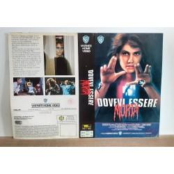 SOLO COPERTINA FASCETTA COVER - DOVEVI ESSERE MORTA - NO VHS ,DVD
