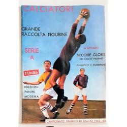 ALBUM CALCIATORI 1962-1963 62-63 , Ristampa L' Unita' , Figurine Panini Serie A